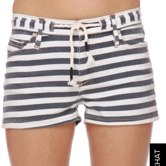 Roxy Pants - Roxy Denim Sunset Drops striped shorts